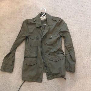 Velvet by lily aldridge olive green army jacket XS
